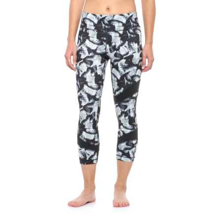 Lole Gratitude Crop Leggings (For Women) in Black Butterflies - Closeouts