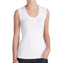 Lole Hug Top - UPF 50+, Stretch Organic Cotton, Sleeveless (For Women) in White - Closeouts