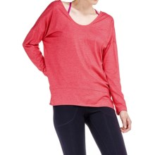 Lole Indra Shirt - V-Back, Long Sleeve (For Women) in Carnelian - Closeouts