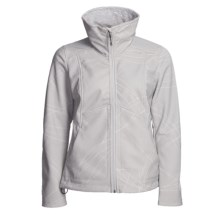 Lole Inspired Jacket - Soft Shell (For Women) in Leafy Light Grey - Closeouts