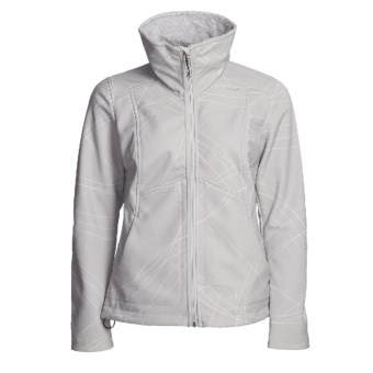 Lole Inspired Jacket - Soft Shell (For Women) in Leafy Light Grey