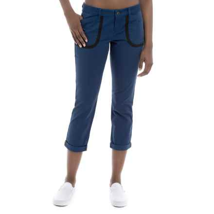 Lole Jolie Cotton Capris (For Women) in Mirtillo Blue - Closeouts