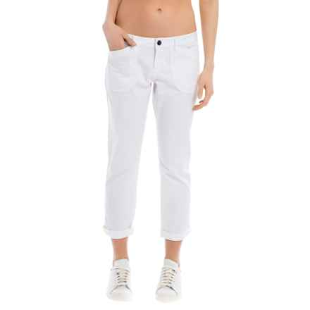 Lole Jolie Cotton Capris (For Women) in White - Closeouts