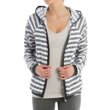 Lole Joy Jacket - Knit Trim (For Women) in White Textured Stripe - Closeouts
