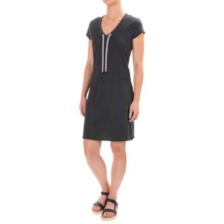 Lole Judith Dress - Short Sleeve (For Women) in Black Heather - Closeouts