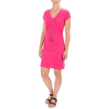 Lole Judith Dress - Short Sleeve (For Women) in Fuchsia Purple Heather - Closeouts