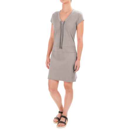 Lole Judith Dress - Short Sleeve (For Women) in Warm Grey Heather - Closeouts