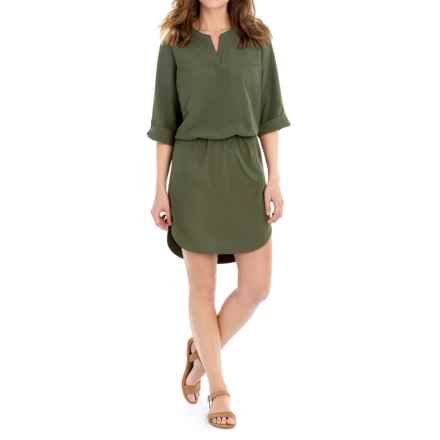 Lole Juju Dress - 3/4 Sleeve (For Women) in Lichen - Closeouts
