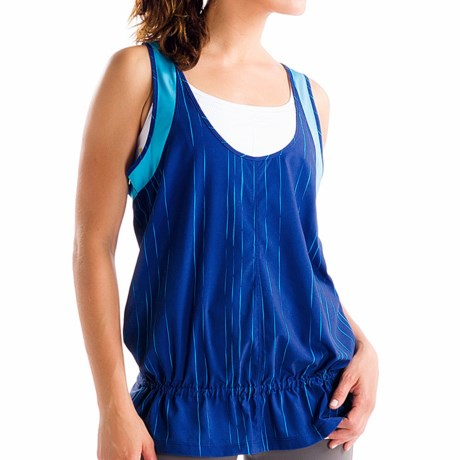 Lole Jump-Up Tank Top - UPF 50+, Recycled Materials, Racerback (For Women) in Solidate Blue Broken Stripe