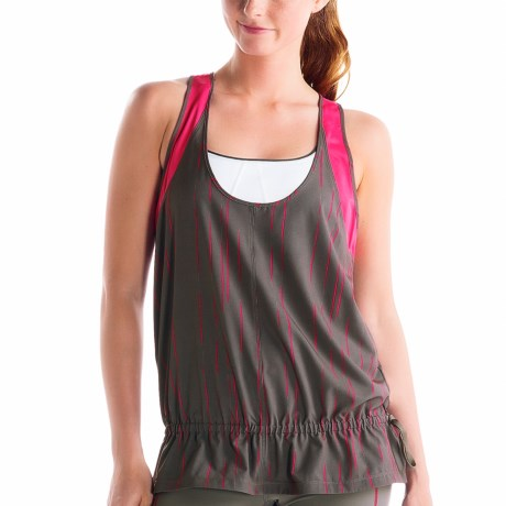 Lole Jump-Up Tank Top - UPF 50+, Recycled Materials, Racerback (For Women) in Storm Broken Stripe