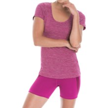 Lole Karen Twist Back Shirt - UPF 50+, Short Sleeve (For Women) in Wild Aster Heather - Closeouts