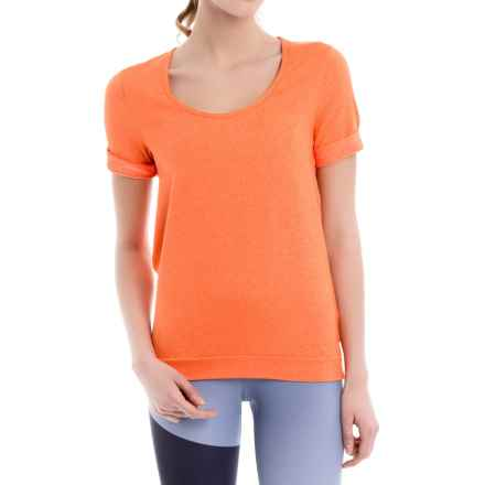 Lole Keeley Shirt - Short Sleeve (For Women) in Nectarine - Closeouts