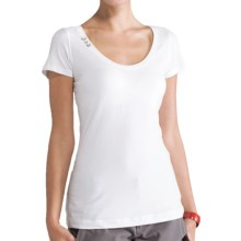 Lole Kiss Shirt - Stretch Organic Cotton, Short Sleeve (For Women) in White - Closeouts