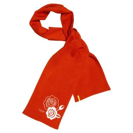 Lole Knit Twig Scarf - Jacquard Motif (For Women) in Terracotta