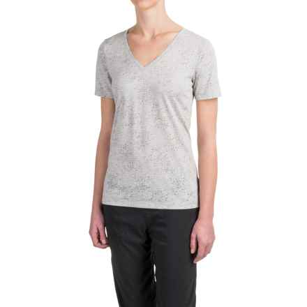Lole Lauren T-Shirt - V-Neck, Short Sleeve (For Women) in Micro Chip Splatter - Closeouts