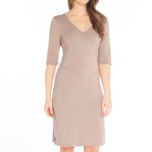 Lole Leena Organic Cotton Dress - UPF 50+, 3/4 Sleeve (For Women) in Biscotti Heather - Closeouts