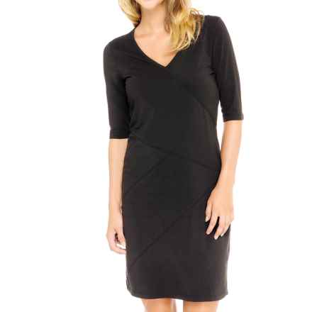 Lole Leena Organic Cotton Dress - UPF 50+, 3/4 Sleeve (For Women) in Black - Closeouts