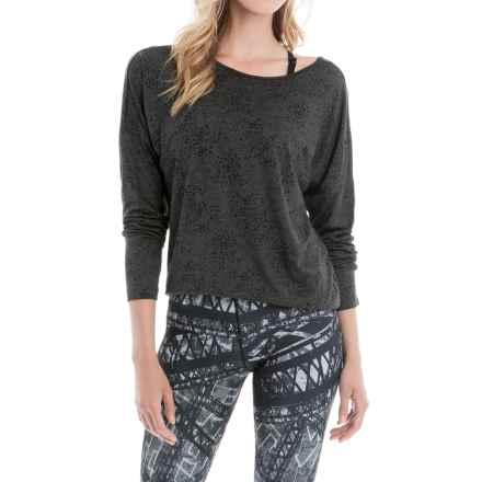 Lole Libby Burnout Shirt - Long Sleeve (For Women) in Black Splatter - Closeouts