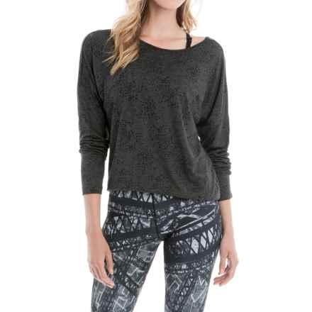 Lole Libby Burnout Shirt - Long Sleeve (For Women) in Black Splatter - Closeouts