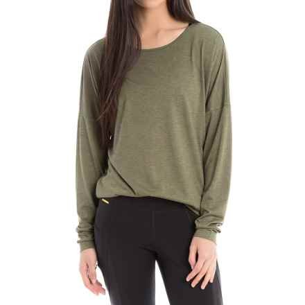 Lole Libby Burnout Shirt - Long Sleeve (For Women) in Khaki Splatter - Closeouts
