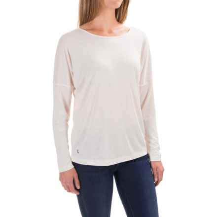 Lole Libby Shirt - Rayon, Long Sleeve (For Women) in White Heather - Closeouts