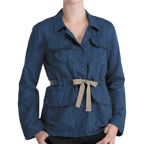 Lole Lina Safari Jacket - Organic Cotton-Linen (For Women) in Ocean