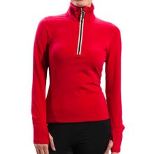 Lole Liven Shirt - UPF 50+, Zip Neck, Long Sleeve (For Women) in Tango - Closeouts