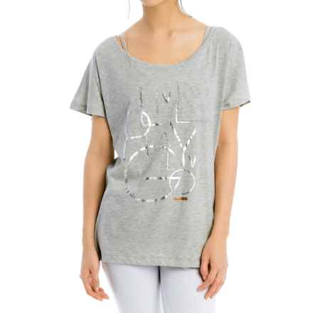 Lole Loni T-Shirt - Short Sleeve (For Women) in Warm Grey Lgp - Closeouts