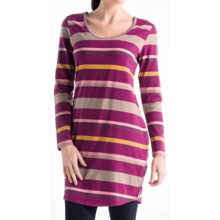 Lole Lorella 2 Dress - UPF 50+, Organic Cotton, Long Sleeve (For Women) in Beaujolais Multi - Closeouts