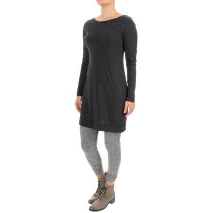 Lole Lori Dress - Organic Cotton, Long Sleeve (For Women) in Black - Closeouts