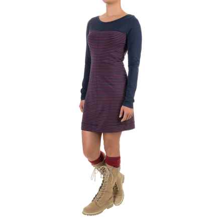 Lole Lori Dress - Organic Cotton, Long Sleeve (For Women) in Blueberry 2 Tone - Closeouts