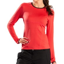 Lole Lovely Shirt - Recycled Materials, Long Sleeve (For Women) in Cayenne Monogram - Closeouts