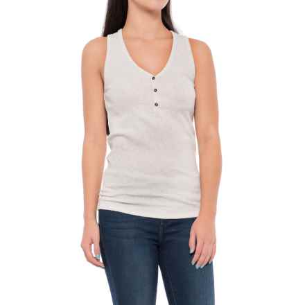 Lole Lucia Henley Tank Top (For Women) in White Heather - Closeouts