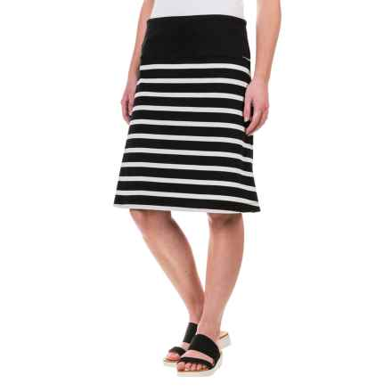 Lole Lunner Convertible Skirt - UPF 50+, Organic Cotton (For Women) in Black Stripe - Closeouts