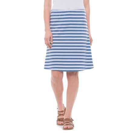 Lole Lunner Skirt (For Women) in Heather Blue Denim Stripe - Closeouts