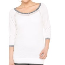 Lole Mable Tunic Shirt - 3/4 Sleeve (For Women) in White - Closeouts