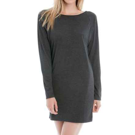 Lole Madden Dress - Rayon Blend, Long Sleeve (For Women) in Black Heather - Closeouts