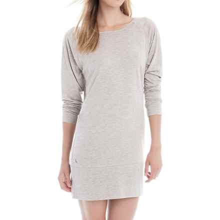 Lole Madden Dress - Rayon Blend, Long Sleeve (For Women) in Cinder Heather - Closeouts