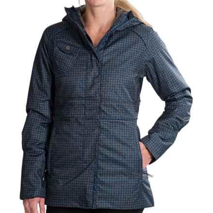 Lole Madelia Herringbone Coat - Insulated (For Women) in Estate Blue Pie De Gallo - Closeouts