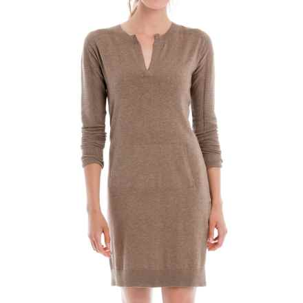 Lole Mara Sweater Dress - Long Sleeve (For Women) in Cinder Heather - Closeouts