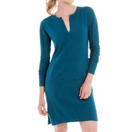 Lole Mara Sweater Dress - Long Sleeve (For Women) in Dark Marine Heather - Closeouts