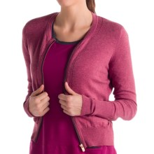 Lole Marbella Cardigan Sweater - Zip Front (For Women) in Beaujolais Heather - Closeouts