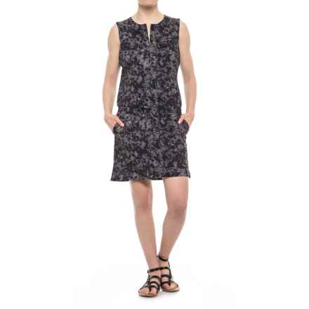 Lole Marina Drawstring Dress - UPF 50+, Sleeveless (For Women) in Black Digifleur - Closeouts