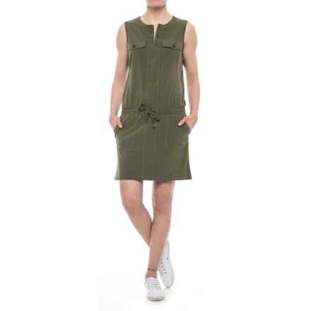 Lole Marina Drawstring Dress - UPF 50+, Sleeveless (For Women) in Khaki - Closeouts