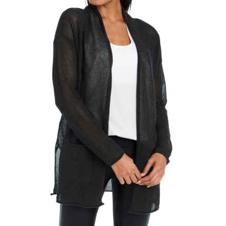 Lole Marnie Cardigan Sweater (For Women) in Black Heather - Closeouts