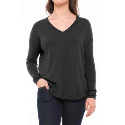 Lole Martha Drop-Shoulder Sweater (For Women) in Black Heather - Closeouts