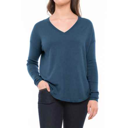 Lole Martha Drop-Shoulder Sweater (For Women) in Dark Marine Heather - Closeouts