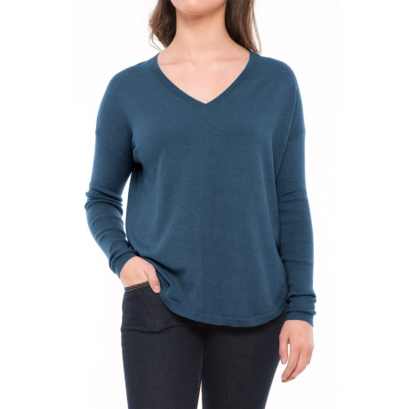 Lole Martha Drop-Shoulder Sweater (For Women) in Dark Marine Heather