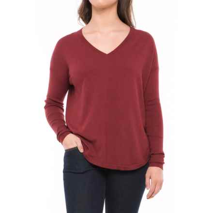 Lole Martha Drop-Shoulder Sweater (For Women) in Rumba Red Heather - Closeouts