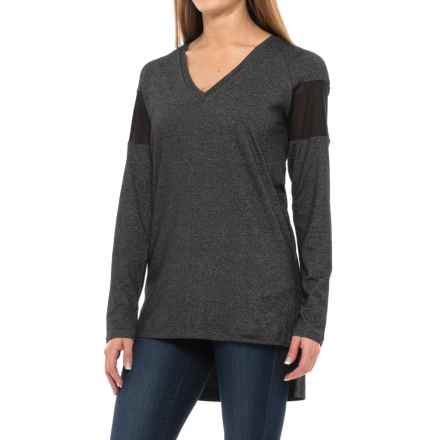 Lole Mason Tunic Shirt - V-Neck, Long Sleeve (For Women) in Black - Closeouts